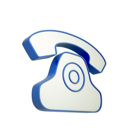 3d phone icon isolated on white background. 3d illustration. illustration