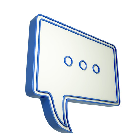 3d speech bubble with three dots  3d illustration with chat icon.