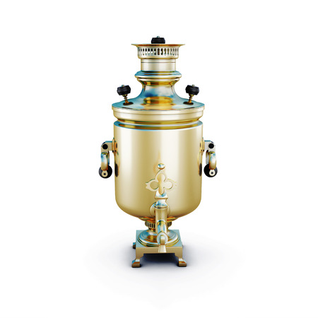 Samovar isolated on white background. 3d render image. photo