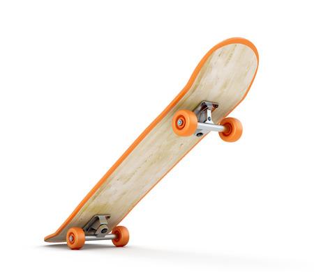 白い背景に分離移動でスケート。3 d のレンダリング イメージです。