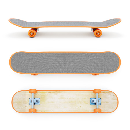 wheel: Skateboard clipping path. 3d render image.