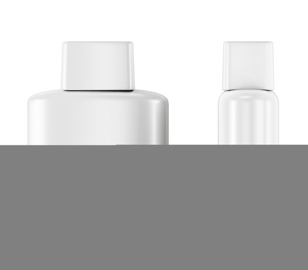 aftershave: Bottle with Aftershave isolated on white background. 3d illustration.