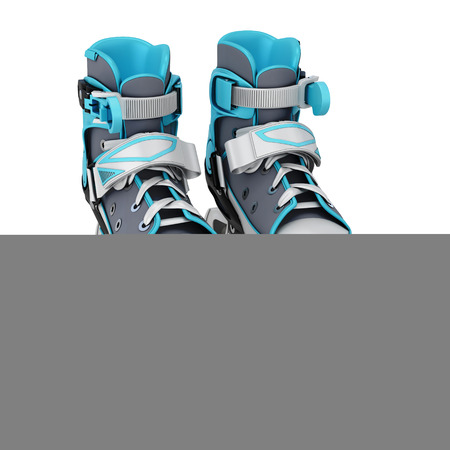 roller skate: Roller skate isolated on white background. 3d illustration.