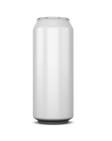 canned drink: Aluminum bank of beer or cola isolated on white background. 3d illustration. bank of beer or cola for your design.