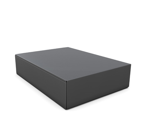 packing boxes: Black packing boxes isolate on white background. Template packing boxes for your design. 3d illustration.