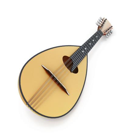 mandolin: Mandolin isolated on a white background. 3d render image.