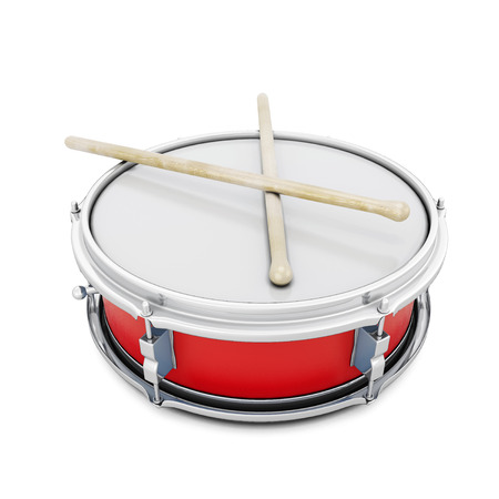 pioneer: Pioneer drum isolated on white background. 3d illustration. Music instruments series.