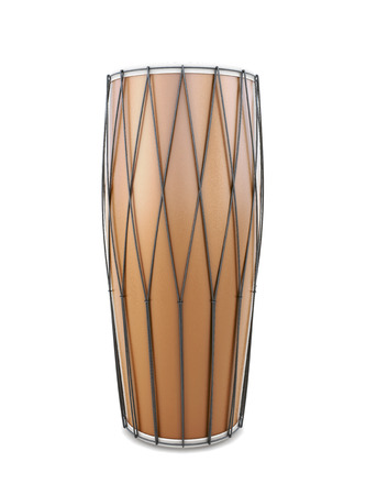 djembe: Indian drum front view isolated on white background. 3d illustration. Stock Photo