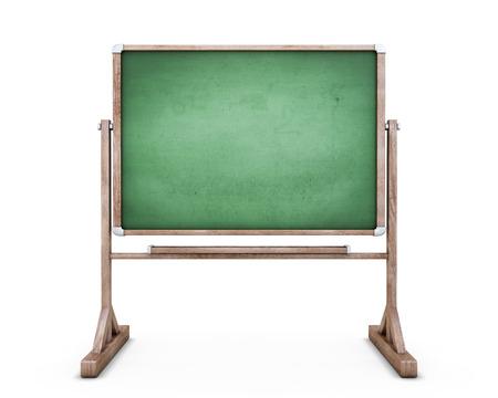 blackboard: Tarjeta de escuela en las piernas aisladas sobre fondo blanco. Pizarra para el texto. 3d ilustración.