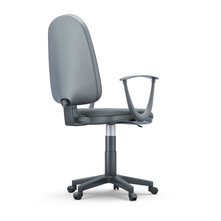 comfortable chair: Comfortable office chair isolated on white background. 3d illustration.