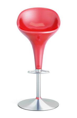 Bar stool isolated on white background. 3d illustration.