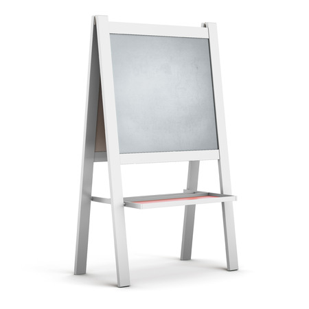 easel: Easel in a white frame close-up on a white background Stock Photo