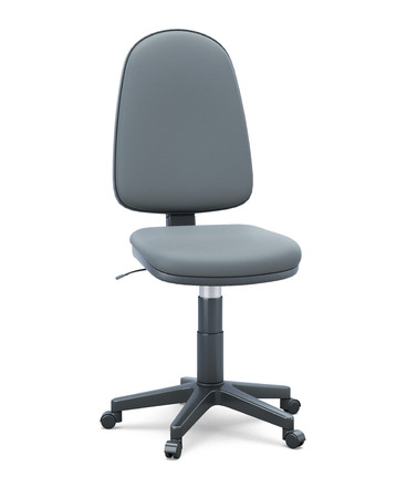 designer chair: Office chair without armrests on a white background. 3d illustration.