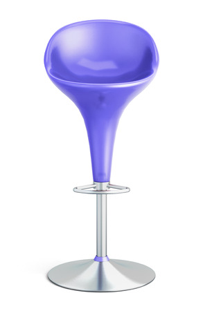 Bar stool on a white background. 3d.
