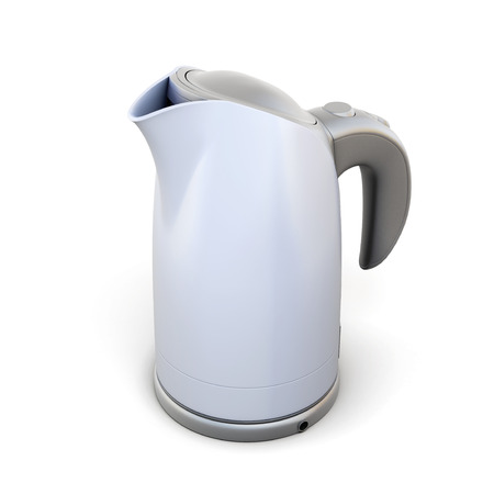 electric tea kettle: Teapot close-up on a white background. 3d render image.
