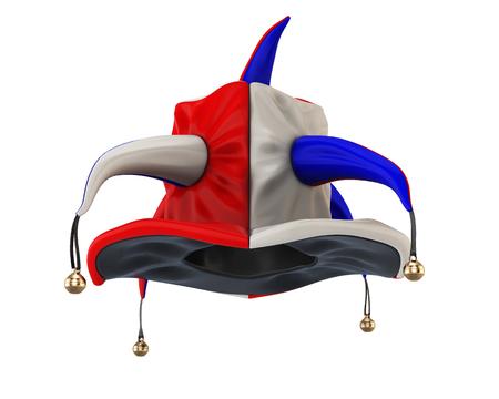 Hofnarr Hut Isoliert Auf Weißem Hintergrund. Hofnarr Hut Für Ihr ...
