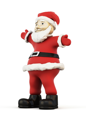 saint nicholas: 3d illustration Santa Claus isolated on white background. Stock Photo