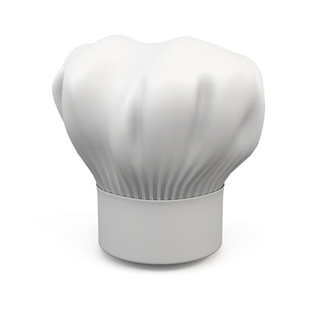 chef s hat: chef Hat isolated on white background. 3d illustration.