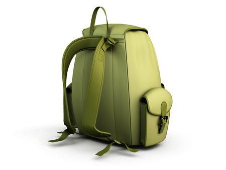 mochila de viaje: Mochila de viaje aislado en fondo blanco. 3d imagen
