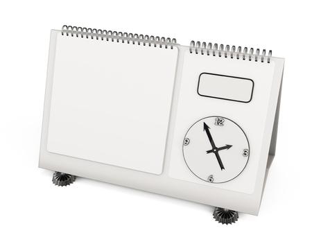 desk calendar: Empty template desk calendar isolated on white background for your design. 3d illustration.
