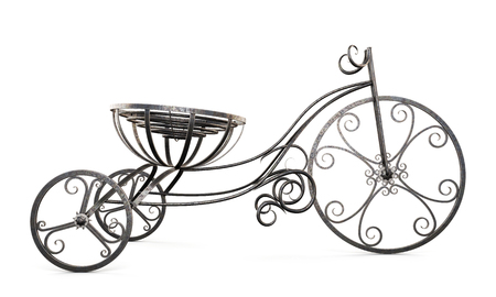 womanish: Decorative vintage bicycle isolated on white background. 3d illustration.