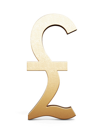 3d British Pound Symbol Gold Stock Photo Picture And Royalty Free