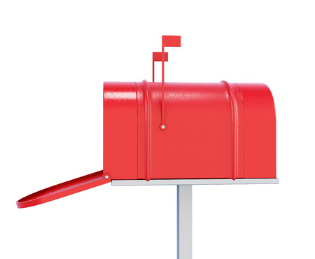three dimensional accessibility: Mailbox isolated on white background. 3d render image Stock Photo