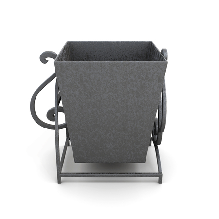 sewage: Street trash can isolated on white background. 3d rendering.