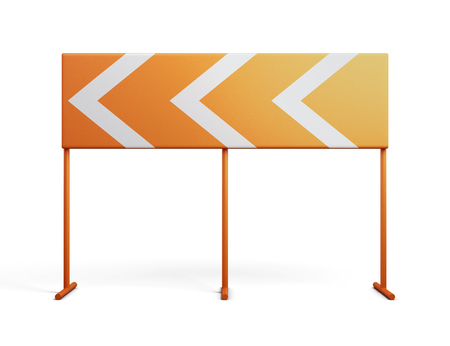 direction sign: Direction indicator isolated on a white background. 3d rendering.