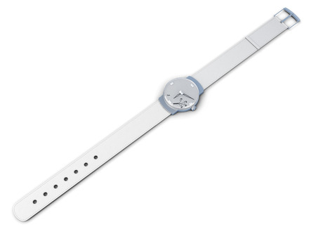 wrist strap: Womens wrist watch isolated on a white background. 3d rendering.