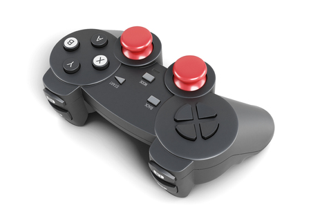 joypad: Gamepad isolated on a white background. 3d rendering.