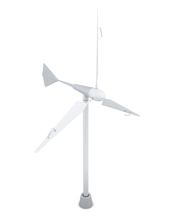 windturbine: 3d model of wind generator isolated on white background.