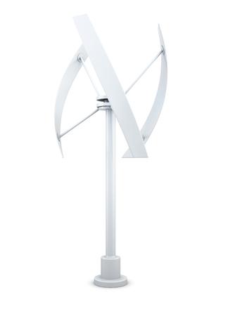 windpower: 3D model of an alternative energy source - wind generator. Stock Photo