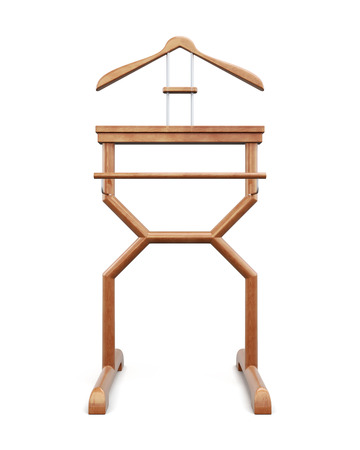 Outdoor clothes hanger on a white background. 3d rendering.