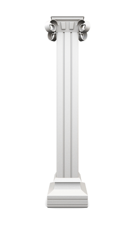 pilasters: Column with pilasters isolated on white background. 3d rendering. Stock Photo