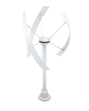 windfarm: Alternative energy source - wind generator. 3d rendering.