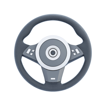 racing wheel: Racing wheel isolated on white background. 3d render image.