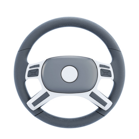 airbag: Wheel of a car isolated on white background. 3d rendering.