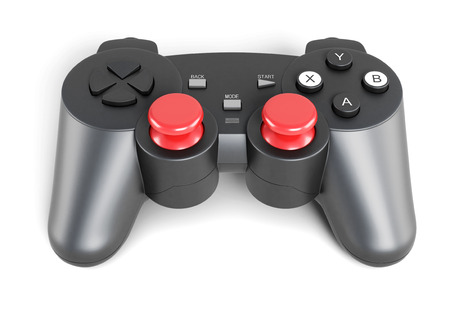 joy pad: Gamepad isolated on a white background. 3d render image.