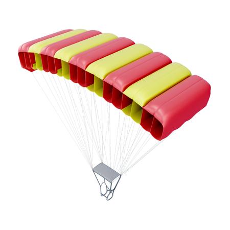 webbing: Parachute isolated on white background. 3d render image.