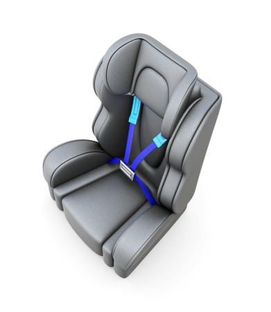 headrest: Baby car seat isolated on a white background. 3d render image.