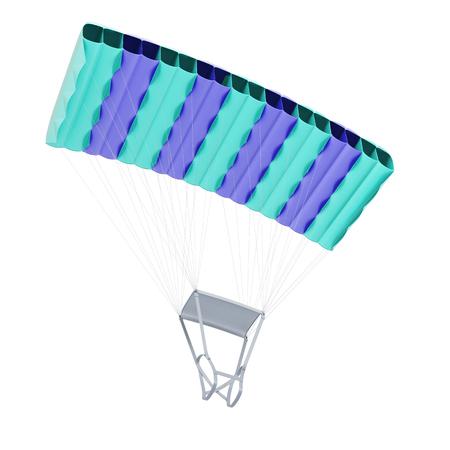 mounting: Parachute isolated on white background. 3d illustration.