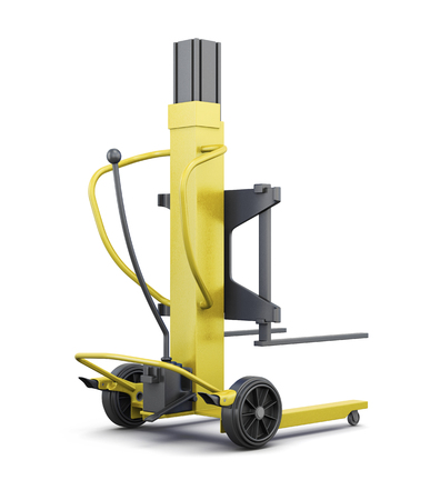 counterbalanced: Yellow loader isolated on white background. 3d render image.