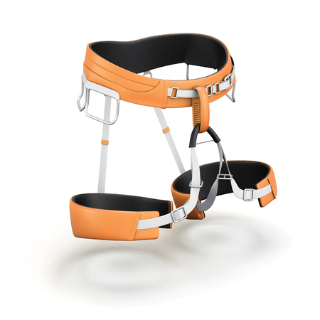 safety harness: Safety harness equipment isolated on white background. 3d rendering.