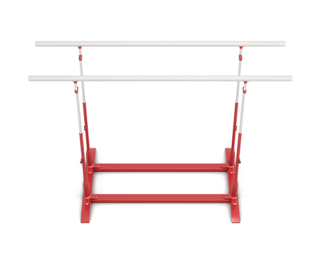 parallel: Parallel bars for gymnastics isolated on white background. 3d rendering.