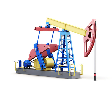 pumpjack: 3d oil pump-jack isolated on white background.