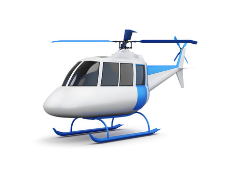transposition: Toy helicopter isolated on white background. 3d render image. Stock Photo
