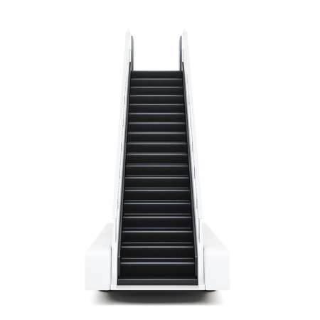 Movable ramp isolated on a white background. 3d illustration.