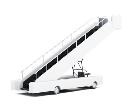 Movable ramp on white background. 3d rendering.