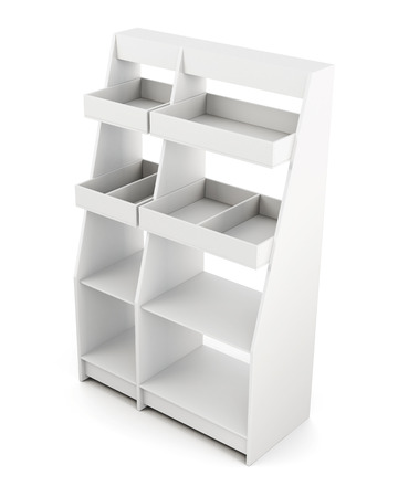 Rack isolated on white background. 3d rendering. Stock Photo